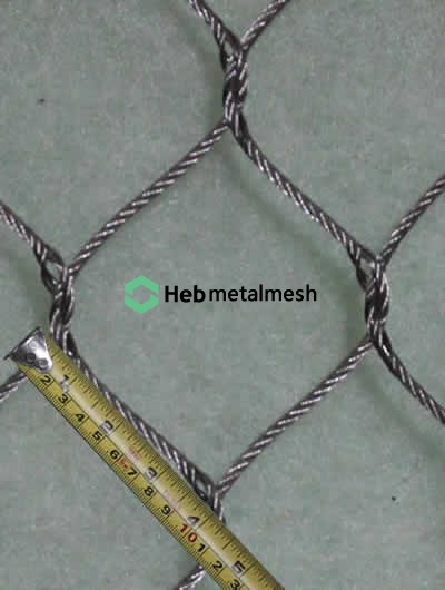 4 inch hole hand woven stainless steel netting