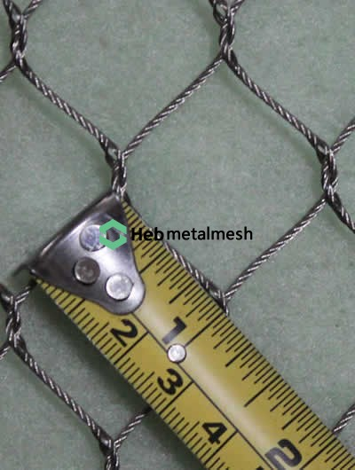 1 inch hole hand woven stainless steel netting