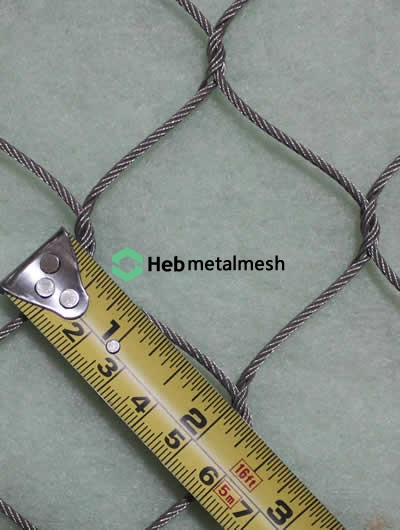 """2"""" hand-woven stainless steel netting"""