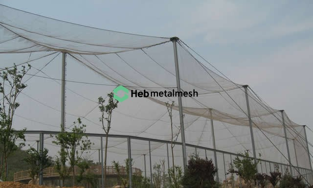 Handwoven stainless steel netting: Mesh netting for zoo bird cages ...