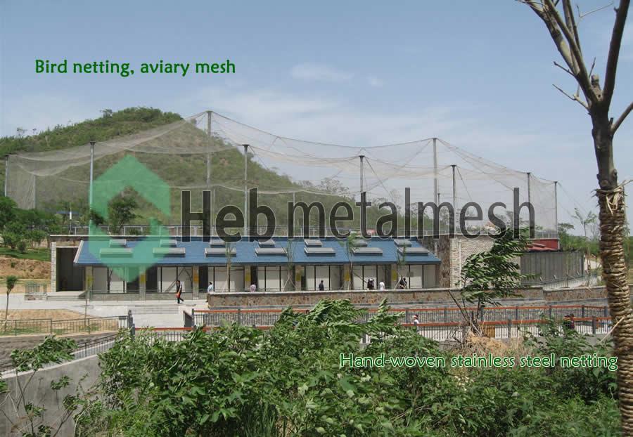 Bird netting, aviary mesh