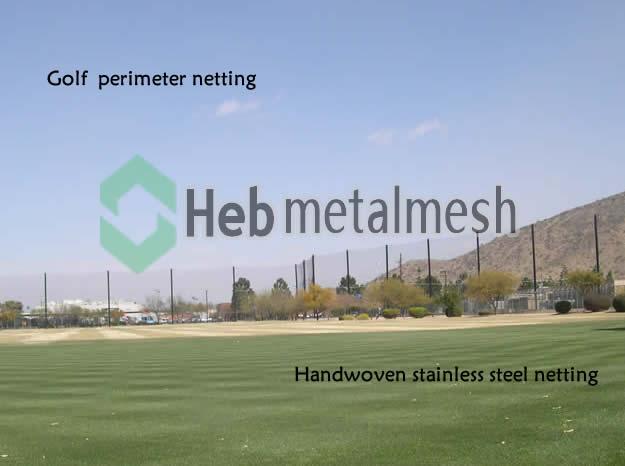 Golf barrier netting, golf barrier netting