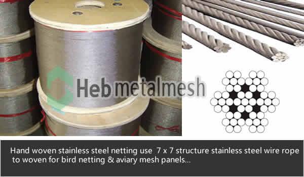 bird netting aviary mesh material