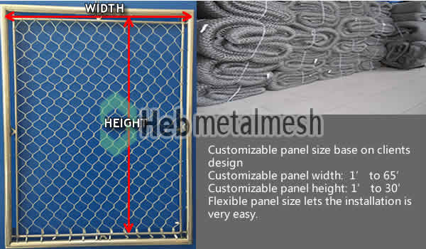 bird netting aviary mesh panel size