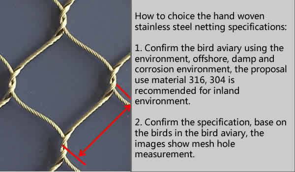bird netting aviary mesh specification choice