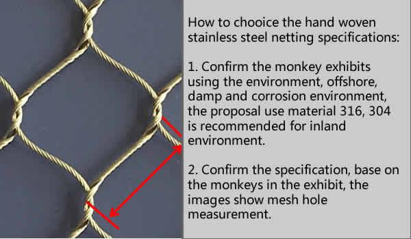 monkey enclosure mesh, monkey exhibit, monkey cages, monkey barrier netting, monkey fencing