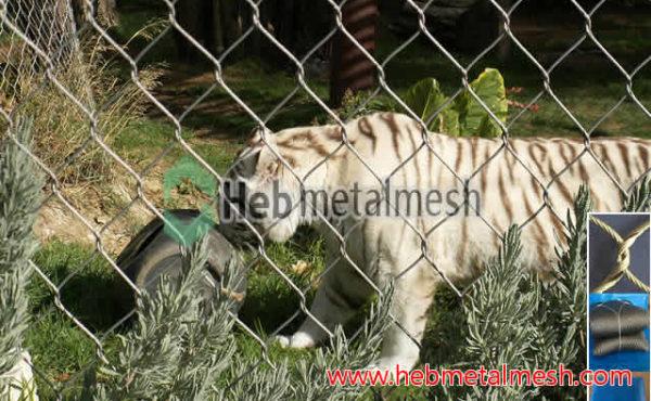 Tiger net fencing, wire mesh for tiger enclosures, tiger cage mesh panels